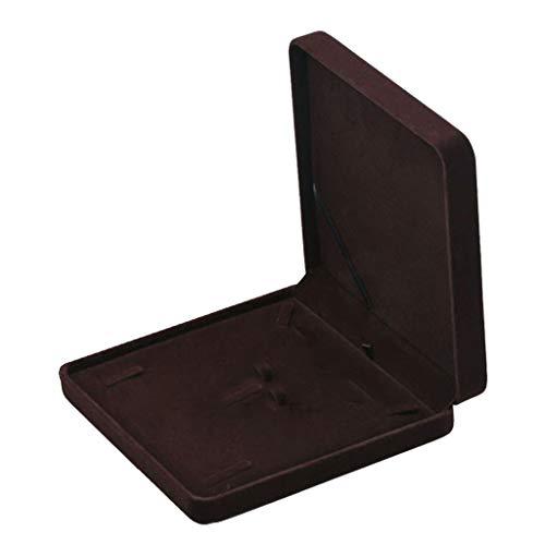 Bonarty Schmuck Set-Box Halskettebox Schmuckschatulle Schmuckbox Schmuckkasten aus Samt - Kaffee