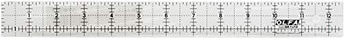 Olfa - Regla para colchas (acrílico, 1 línea), Transparente