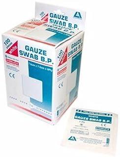 LIV STRL GAUZE SWAB 7.5X7.5CM 8PLY WHITE COTTON 1/PK 100/BOX