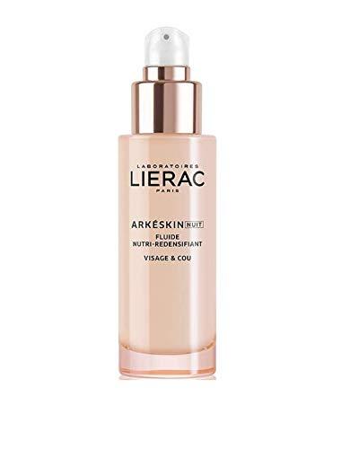 Lierac Arkeskin Fluido Viso Nutriente Ridensificante Notte per la Pelle in Menopausa, con Acido Ialuronico, Formato da 50 ml