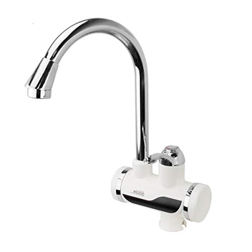 WEZER Hot Water Heater Instant Electric Faucet Fast Heating Tap Water Faucet 110V (LED Digital Display)