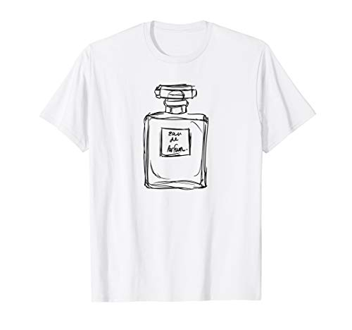 Eau de Parfum Perfume Bottle Illustration Tee Shirt