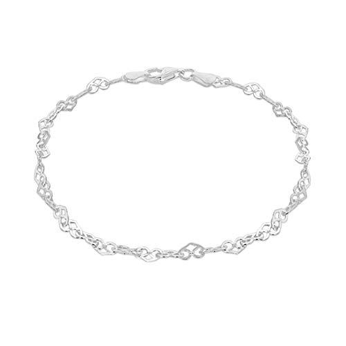 Tuscany Silver Pulsera de Plata de Ley para Mujer 19 cm