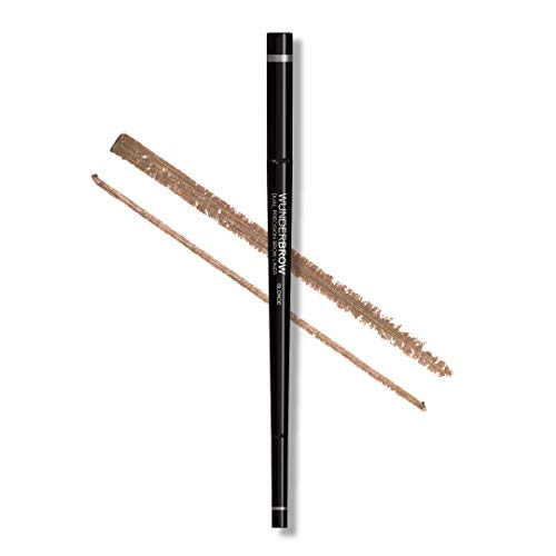 Wunder2 Dual Brow Liner Makeup Eyebrow Pencil With Angled Tip and Ultra Fine Tip Dual Precision, Blonde