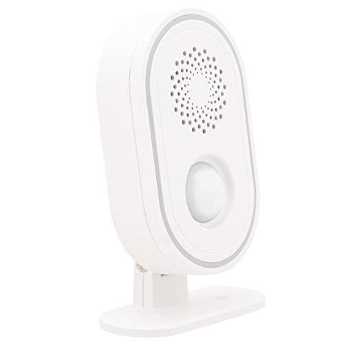 Campanello antifurto wireless, statistiche dei clienti aziendali Sensore di movimento con allarme di benvenuto PIR con modalità di distribuzione della difesa, per la sicurezza aziendale