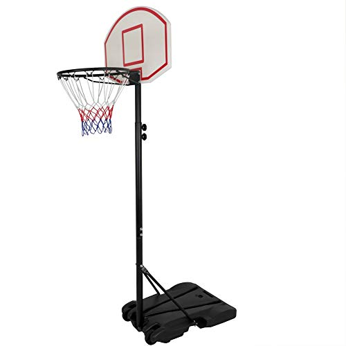 Check Out This Basketball Portable System Adjustable Hoop Backboard Yard Outdoor Kids Sports
