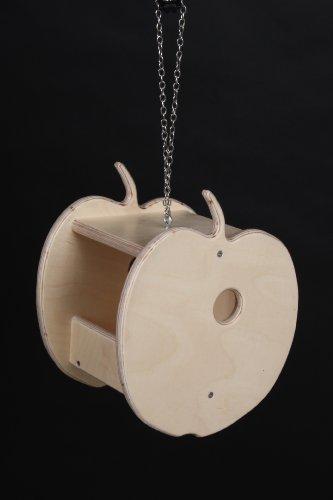 Futterhaus Model Apfel Holz Birke Handarbeit