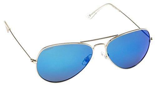 Cressi Nevada Occhiale da Sole Uomo Polarizzato, Silver/Lente Blu