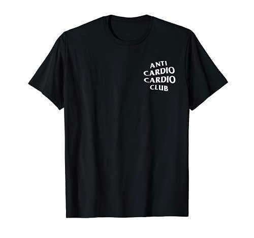 Anti Cardio Club: logotipo blanco (frontal + diseño trasero) Camiseta