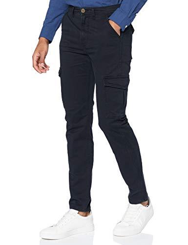 Lee Mens Tapered Cargo Pants, Black, 33/32
