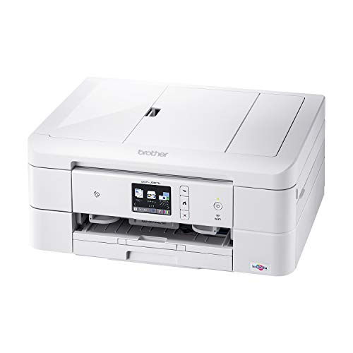 Brother DCP-J987N-W Printer A4 Inkjet Composite Machine (White/Wi-Fi Compatible/ADF/Automatic Double-Sided Printing/Smartphone / Tablet Connection/Label Print/2020 Model)