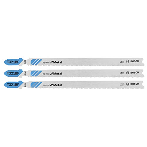 BOSCH T321BF3 3-Piece 5-1/4 In. 12 TPI Speed for Metal T-Shank Jig Saw Blades