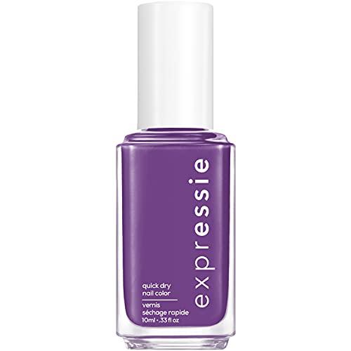 essie expressie Quick-Dry Vegan Nail Polish, IRL, Grape Purple, 0.33 Ounce