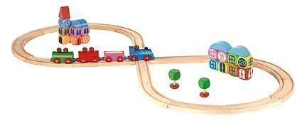 Kit locomotive en 8 avec ville en constructions 48 pièces
