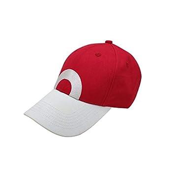 Trend Basics Embroidered Pokemon Trainer Red Hat - 2004 Trainer Red Design  6 Panel Adjustable Metal Buckle  2004 Original Design