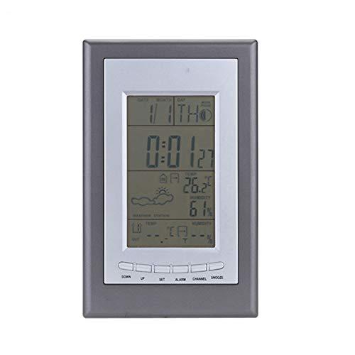 CQL Wekker Weerstation draadloze thermometer binnen buiten kalender snooze wekker woonkamer tuin