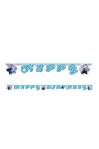 Disney 2 m Frozen Happy Birthday Banner in hellblau