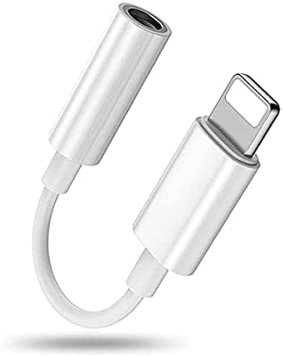 Headphone Adapter for iPhone to 3.5mm, Aux Audio Adaptor Dongle Earphone Stereo Cable Jack Connector Compatible for iPhone 12/11 Pro/XS MAX/XR/X/XS/8/8Plus/7/7Plus/ipad/iPod Support all iOS systems from Riclbe