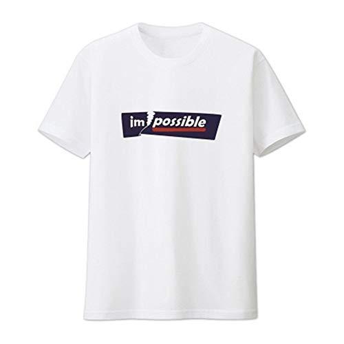 JIAN Camiseta Nuevo Texto Impreso 2020 Hombres del Verano Pensamientos con Capucha de Manga Corta Camiseta de la Juventud Popular Hombres de Cuello Redondo de (Color : Blanco, Size : L)