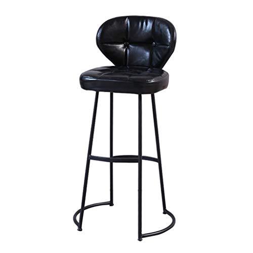 Tabouret de bar en Cuir pour Chaise de Petit déjeuner, Cadre en métal pour siège en éponge avec Tabouret de comptoir antidérapant, Restaurant/café/Bar de Loisirs (51 * 38 * 75cm)