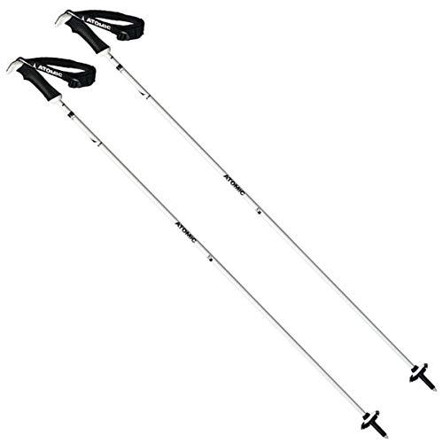 ATOMIC AMT SQSW 1 Par de Bastones de esquí All-Mountain, Aleación de Carbono, Mujer, Blanco/Negro, 115 cm