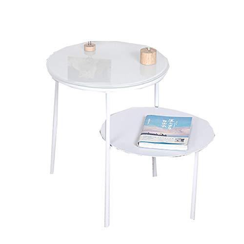 LSX - salontafel kleine koffietafel, kleine ronde tafel moderne minimalistische woonkamer bank zijtafel hoek tafel nachtkastje kleine bijzettafel smeedijzeren bijzettafel