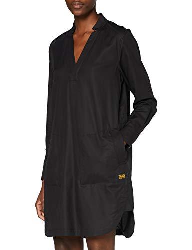 G-STAR RAW Damen Casual Dress Milary V-Neck Shirt, Dk Black 9290-6484, Medium