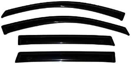 Auto Ventshade 94155 Original Ventvisor Side Window Deflector Dark Smoke, 4-Piece Set for 2009-2014 Ford F-150 SuperCrew | Also fits 2010-2014 Raptor SuperCrew