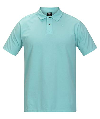 Hurley M Dri-Fit Harvey Solid Polo S/S Tee-Shirts Homme, Light Aqua, FR : L (Taille Fabricant : L)