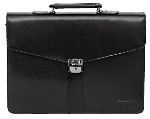 Lombard by Tassia valigetta da lavoro - scomparto porta computer fino a 15,4'' - pelle rigenerata - nero
