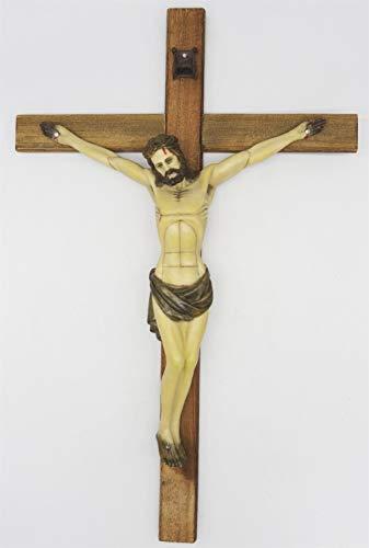 Cruzar Cuerpo De Resina Pintada A Mano, Crucifijo Cruzado De Pared De...