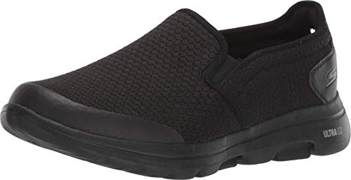 Skechers Herren Go Walk 5 Apprize Slip On Sneaker, Schwarz (Black), 10.5 UK (45 EU)