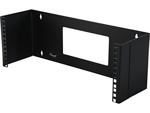 Rosewill 4U 19 Inch Steel Wall Mount Hinged Server Bracket with 6 Inches Deep and Hinge Design for Easy Asscess for Network Switches and Routers (RSA-4UBRA001)