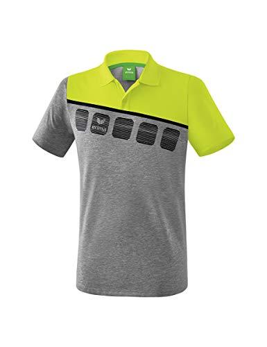 Erima 5-C Poloshirt Mixte Adulte, Blanc/Oriental Blue/Colonial Blue, FR : 2XL (Taille Fabricant : XXL)