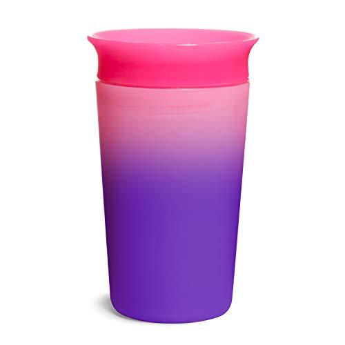 Munchkin 051869 - Munchkin Vaso para sorber que cambia de color Miracle 360°, 266 ml/9 oz, Rosa, unisex