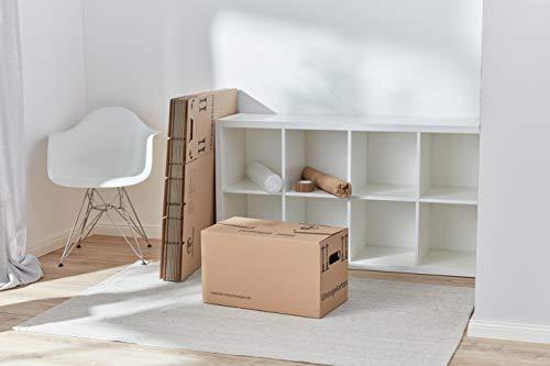 1 Umzugskomplettpaket (1 bis 2-Zimmer-Wohnung) mit 20 Umzugskartons Profi + Luftpolsterfolie + Seidenpapier + Klebeband