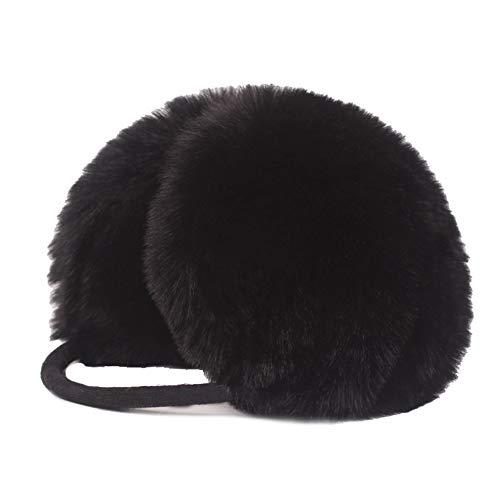 LianTao Ohrenschützer Ohrschutz Verstellbare Winterohrschützer Outdoor Ohrenwärmer Geschenke für Frauen Kinder Mädchen (Kunstpelz) (black)