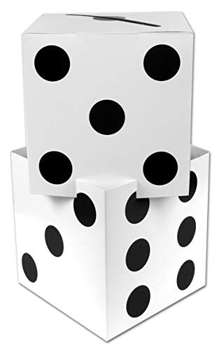 Beistle Three Dimensional Dice Stacking Centerpiece Casino Party Decorations, 17
