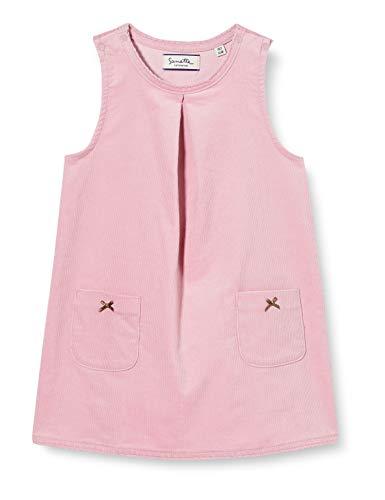 Sanetta Baby-Mädchen Kleid Dark Rose Rosa Cordkleid aus hochwertiger Bio Baumwolle mit zauberhaften Details Fiftyseven, 062