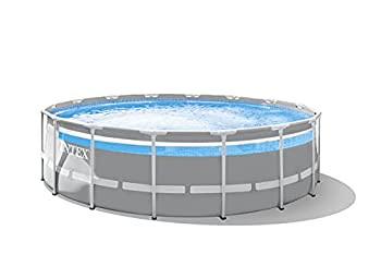 Intex 26729EH 16 Foot by 48 Inch Clearview Prism Frame Above Ground Swimming Pool with Filter Pump Easy Set Up and fits up to 6 People