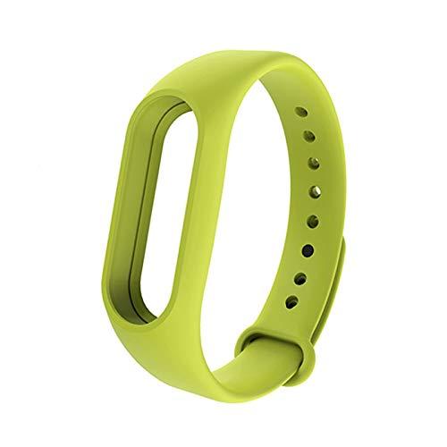 YONGLI Pulsera Inteligente para MI Band 2 Strap Cinturón De Reemplazo De La Pulsera De Silicona para MI Band 2 Pulsera Inteligente para Accesorios Xiaomi (Color : Fresh Green)