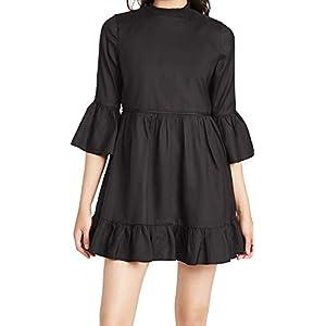 Alice + Olivia Women's Aislyn Flutter Sleeve Tiered Mini Dress