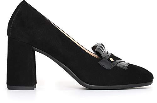 NeroGiardini A719671DE Zapatos De Salón Mujer De Ante Y Charol - Negro 40 EU (Ropa)