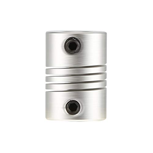 Dynamovolition Hot 6x6mm CNC Motor Backenwellenkupplung 6mm bis 6mm Flexible Kupplung Außendurchmesser 16x23mm Top silber Farbe langlebig