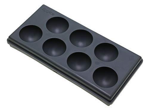 7er Eierhalter, Eierfach 12640 | Schwarz, Silikon, für Kühlschrank, 20x10x3cm