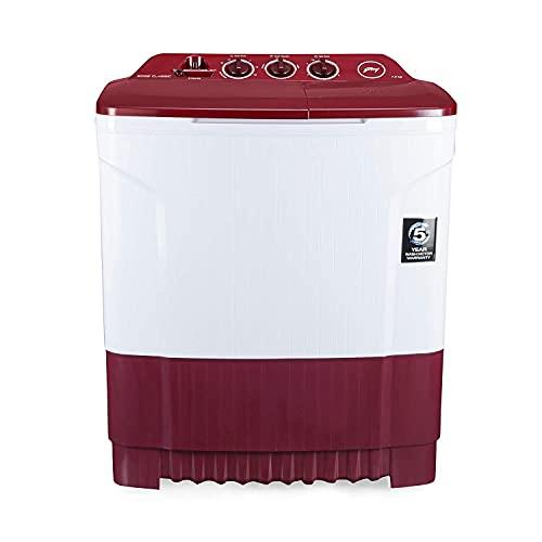 Godrej 7.2 Kg Semi-Automatic Top Loading Washing Machine (WS EDGE CLS 7.2 PN2 M WNRD, Wine Red)