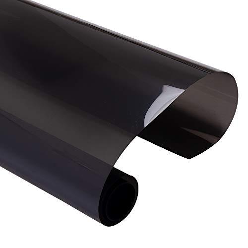 Lxxiulirzeu Schwarz Auto Auto-Haus-Fenster-Film Solar-Tint 20% VLT Privatsphäre Aufkleber Tint Hohe Wärmedämmung Nano Keramik Film 0.5x12m