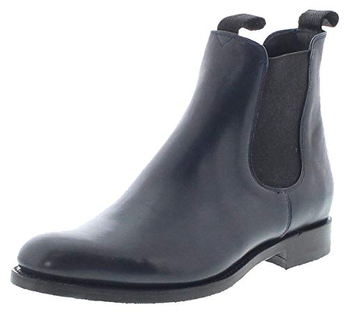 Sendra Boots Dames Chelsea Boots 12234 Navy leren laarzen blauw