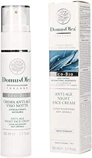 DOMUS OLEA TOSCANA - Anti Age Night Face Cream - powerful anti wrinkle effect - Super Nourishing - Icea Certfied - Nickel Tested - 50 ml