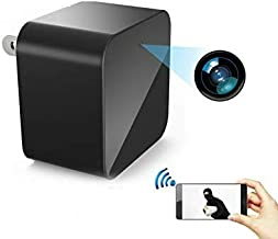 Wifi Security Camera USB Wall Charger, Motion Detection Wireless Nanny Cam . Compatible to Iphone / Android, Surveillance Camera, Spy Camera Adapter 1080 Full HD, Up to 64GB SD Memory Card